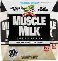 CytoSport Muscle Milk RTD Nutritional Shake Vanilla Creme - 4 Containers