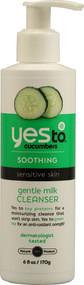 Yes to, Soothing, Sensitive Skin, Gentle Milk Cleanser, Cucumbers, 6 fl oz (177 ml)
