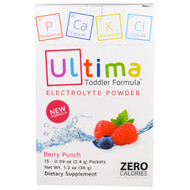 3 PACK OF Ultima Replenisher, Ultima Toddler Formula Electrolyte Powder, Berry Punch, 15 Packets, 0.09 oz (2.4 g) Packets