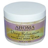 Abra Therapeutics, Natural Body Scrub, Deep Relaxation, Lavender and Melissa, 10 oz (283 g)
