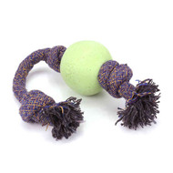 3 PACK OF Beco Pets, Eco-Friendly Dog Ball On a Rope, Small, Green, 1 Rope