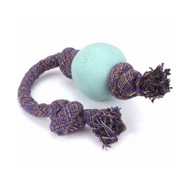 3 PACK OF Beco Pets, Eco-Friendly Dog Ball On a Rope, Small, Blue, 1 Rope