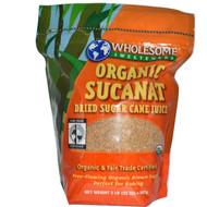 Wholesome Sweeteners, Organic Sucanat, Dehydrated Cane Juice, 2 lbs. (32 oz) - 907 g