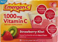 Emergen-C Vitamin C Drink Mix Strawberry Kiwi - 1000 mg - 30 Packets