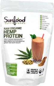3 PACK of SunFood Raw Organic Hemp Protein -- 8 oz