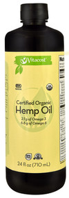 Vitacost Certified Organic Hemp Oil - Non-GMO - 24 fl oz (710 mL)