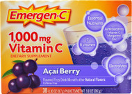 Emergen-C Vitamin C Fizzy Drink Mix Acai Berry - 1000 mg - 30 Packets