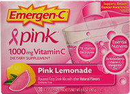 Emergen-C, Vitamin C Fizzy Drink Mix,  Pink Lemonade - 1000 mg - 30 Packets