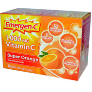 Emergen-C Vitamin C Fizzy Drink Mix Super Orange - 1000 mg - 30 Packets