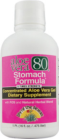 Lily of the Desert, Aloe Vera 80 Stomach Formula - 16 fl oz