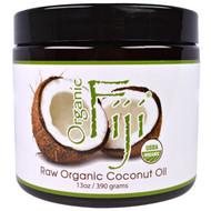 Organic Fiji, Raw Organic Coconut Oil, 13 oz (390 g)