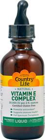Country Life Natural Vitamin E Complex - 2 fl oz