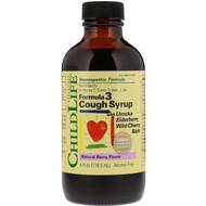 ChildLife, Essentials, Formula 3 Cough Syrup, Alcohol Free, Natural Berry Flavor, 4 fl oz (118.5 ml)