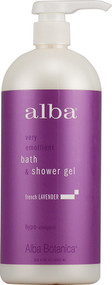Alba, Botanica Very Emollient Bath and Shower Gel French Lavender - 32 fl oz