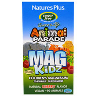 3 PACK OF Natures Plus, Animal Parade, MagKidz, Childrens Magnesium, Natural Cherry Flavor, 90 Animals