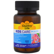 Country Life, Kids Care probiotic, Berry Flavor, 30 Chewable Wafers