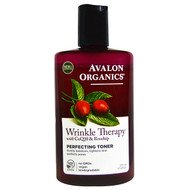 3 PACK OF Avalon Organics, Wrinkle Therapy, With CoQ10 & Rosehip, Perfecting Toner, 8 fl oz (237 ml)