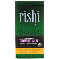 3 PACK OF Rishi Tea, Organic Loose Leaf Herbal Tea, Turmeric Chai, 3.00 oz (85 g)