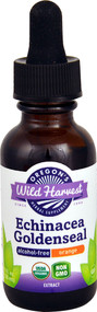 Oregons Wild Harvest Organic Echinacea Goldenseal Alcohol-Free Orange - 1 fl oz