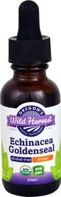 3 PACK of Oregons Wild Harvest Organic Echinacea Goldenseal Alcohol-Free Orange -- 1 fl oz