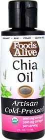 Foods Alive Organic Artisan Cold Pressed Oil  Chia - 4 fl oz