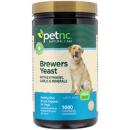 3 PACK OF petnc NATURAL CARE, Brewers Yeast, Liver Flavor, Adult Dog, 1000 Chewables