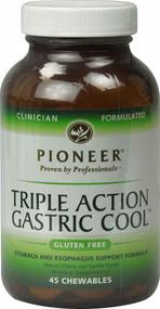 Pioneer Triple Action Gastric Cool Gluten Free Cherry Vanilla - 45 Chewables