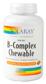 Solaray, B-Complex Chewable,  Natural Orange - 50 Wafers