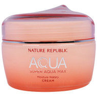 Nature Republic, Aqua, Super Aqua Max, Moisture Watery Cream, 2.70 fl oz (80 ml)