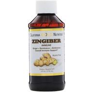 3 PACK OF California Gold Nutrition, Zingiber Immune, Ginger + Sambucus + Echinacea, Alcohol Free, 4 fl oz (118 ml)