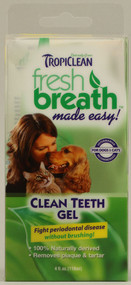 Tropiclean Clean Teeth Gel for Dogs and Cats - 4 fl oz