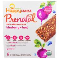Nurture Inc. (Happy Baby), Prenatal Soft Baked Oat Bar, Blueberry, Beet, 5 Bars 1.58 oz (45g) each
