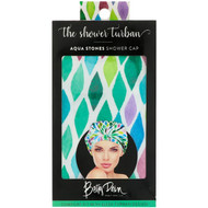 Betty Dain Creations, The Shower Turban, Aqua Stones Shower Cap, 1 Shower Cap