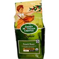 Green Mountain Coffee, Organic Whole Bean, French Roast, Regular, Dark Roast, 10 oz (283 g)