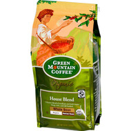 Green Mountain Coffee, Organic Whole Bean, House Blend, Regular, Medium Roast, 10 oz (283 g)