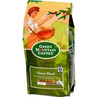 Green Mountain Coffee, Organic Whole Bean, House Blend, Regular, Medium Roast, 10 oz (283 g)