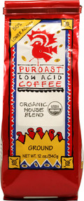 Puroast, Organic Low Acid Ground Coffee,  House Blend - 12 oz
