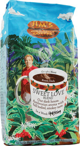 Jims Organic Coffee, Whole Bean,  Sweet Love Blend - 12 oz