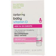 3 PACK OF UpSpring, Vitamin D3 Drops, Baby, 400 IU, 0.076 fl oz (2.25 ml)