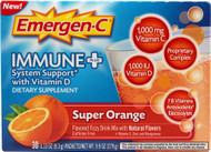 Emergen-C Immune Plus System Support with Vitamin D Super Orange - 30 Packets