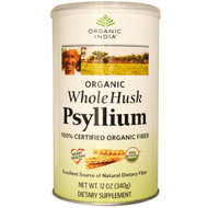 Organic India Whole Husk Psyllium - 12 oz