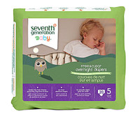 Seventh Generation, Baby Overnight Diapers Stage 5 - 20 Diapers