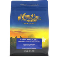 Mt. Whitney Coffee Roasters, Base Camp Blend, Medium Plus Roast, Whole Bean Coffee, 12 oz (340 g)