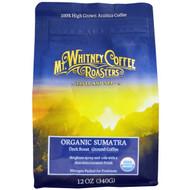 Mt. Whitney Coffee Roasters, Organic Sumatra Gayo Mountain, Ground Coffee, Medium Plus Roast, 12 oz (340 g)