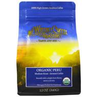 Mt. Whitney Coffee Roasters, Organic Peru, Medium Roast Ground Coffee, 12 oz (340 g)