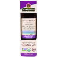 Natures Answer, 100% Pure, Organic Blend Essential Oil, Ocean Breeze, 0.5 fl oz (15 ml)