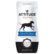 ATTITUDE, Furry Friends, Natural Pet Shampoo, White Coat Brightener, 8 fl oz (240 ml)