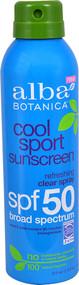 Alba Botanica Cool Sport Sunscreen Clear Spray SPF 50 Refreshing - 6 fl oz