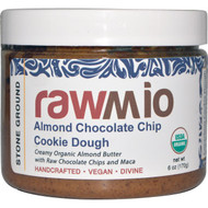 Rawmio, Almond Chocolate Chip Cookie Dough Spread with Maca, 6 oz (170 g) (Discontinued Item)