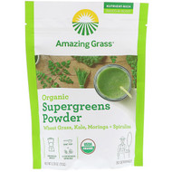Amazing Grass, Organic SuperGreens Powder, 5.29 oz (150 g)